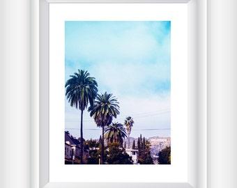 Palm Tree Print, California Print, California Photography, Palm Tree Wall Art, Printable Home Decor, Los Angeles Print, California Wall Art