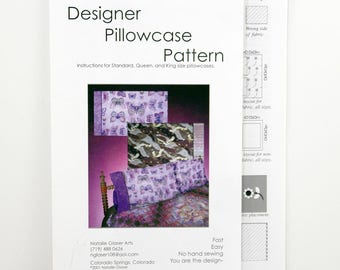 Pillowcase Pattern, Size Standard, Queen, King Pillowcases, Fast and Easy Pattern for Bedroom Decor