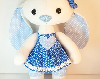 "Easter Bunny, stuffed animal, plush toy ""Blueberry"""