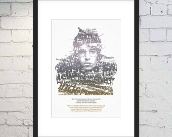 Liam Gallagher Print / What's The Story Art / Music Print / Framed or Unframed / Typography / Oasis Print / Morning Glory Tracklist