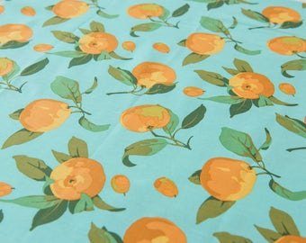 Citrus in Turquoise by Martha Negley by the Fat Quarter (FQ)