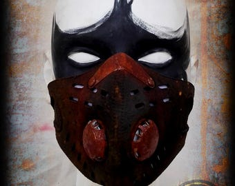 Neoprene half mask rusty - post apocalyptic mask