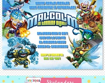 Skylanders Invitation / Skylanders Birthday / Skylanders Invite / Skylanders Party / Skylanders Birthday Invitation / Skylander Party Invite