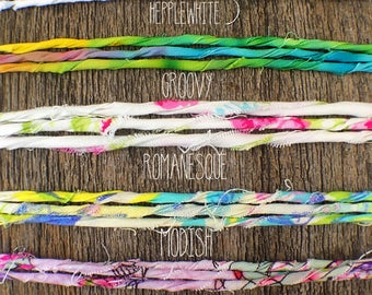 Fabric Ribbon Bracelet / Anklet / Necklace / Choker Boho Chic style