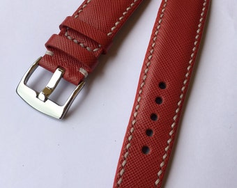 I sell Handmade saffiano Leather Strap 22 mm