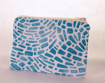 Cosmetic Bag - Blue Cobblestone