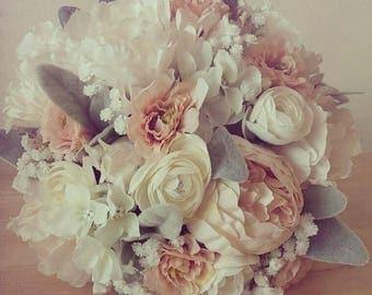 Peony and Ranunculus Bouquet Light Pink/Peach