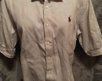 Women's Polo Ralph Lauren Short Sleeve Button Up