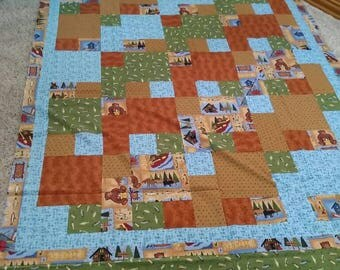 Gone fishing quilt top