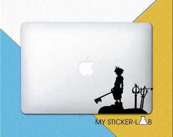 Sora Kingdom Hearts MacBook Decal Kingdom Hearts MacBook Sticker Kingdom Hearts Sora Sticker Sora Keyblade Decal Silhouette Vinyl m1016