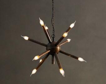 Modern Brass Sputnik Chandelier Light Fixture - Sputnik Starburst Chandelier