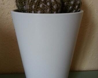 The handmade crochet Cactus