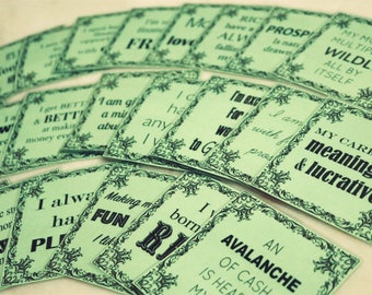 24 Wealth Affirmation Cards - Practice an ABUNDANT Money Mindset! (PRINTABLE - use ANY color card stock paper you like :)