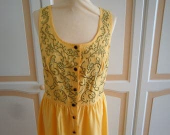Beautiful Banana Colour Long Dress site 14