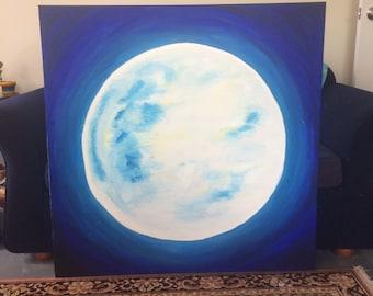 Moon on Canvas