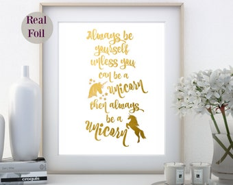 Foil Art Print, A4 Foil Quote print, Office Home wall art, foil Nursery print, Foil Art Print, foil print, gold foil, made in Australia