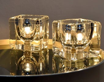 PEILL & PUZTLER - Pair of ice cubes lamps