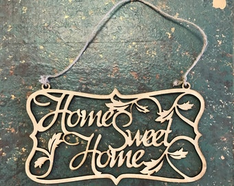 Home Sweet Home Wooden Cut Out