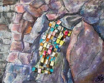Stone Mosaics, 2012 // Mixed technique artwork by Sanda Vo // Colorful Mood Artwork