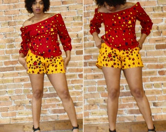 Ankara Short and Off Shoulder Top