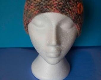 Ladies merino wool beanie hat