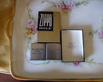 Neat Zippo rulers/ tape measures a set of two in the box