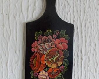 "Cutting desk beech wood hand made acrylic paint ""Zhost"" style"