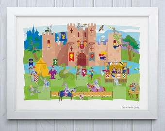 Knight's Castle Print