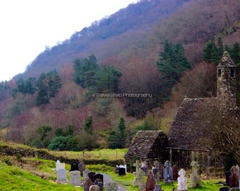 Ancient Monastic Church, Glendalough, Co. Wicklow. Ireland.