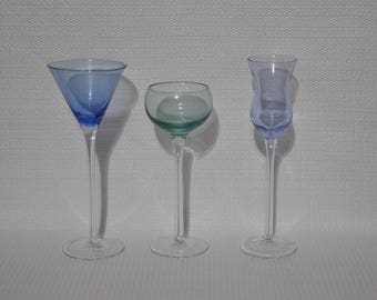 Delicate And Colorful Long Stem Shot Glasses