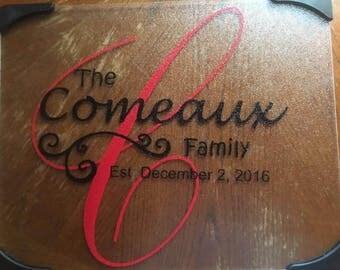 Customized cutting board