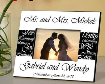 Mr & Mrs Wedding Picture Personalized Frame
