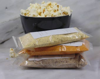 3 For 25 Popcorn Bar Popcorn Seasoning| Gourmet Popcorn Toppings & Seasonings | Popcorn Seasoning |