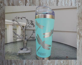 Decal for Yeti Cup, Glitter Dragonfly, Yeti decal Glitter, Glitter Decal, Water Bottle Decal, Car Decal, Glitter Yeti Decal, tumbler decal