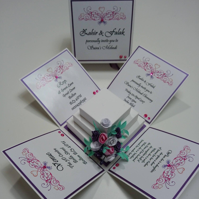 Custom Wedding Invitations: Luxury Exploding Wedding Invitation Box