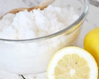 All Natural Lemon Sugar Scrub with Essential Oils 8oz