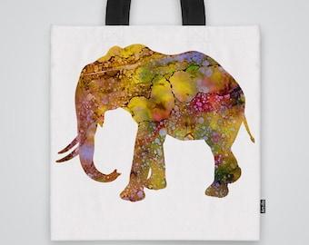 Elephant Tote Bag Shoulder Bag Market Bag Art Print