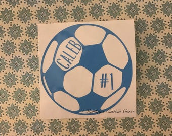 Soccer, Car, Decal, Soccer Car Decal, Soccer Ball Decal, Ball, Computer Decal, Laptop decal, Tablet decal, Phone decal, Soccer player decal