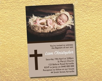 Personalised Christening Baptism Communion Confirmation Invitations Invites