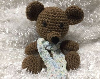 Crochet Teddy Bear; Handmade by KCCrochetGuy