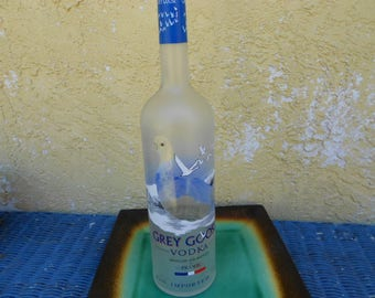 Empty Grey Goose Bottle Glass Supplies Upcycle  Raw Materials Bottle Lamp Bottle Soap Dispenser Glass Fusing