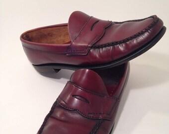 SALE~Vintage Oxblood Loafers~Size 10.5