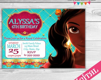 Elena of Avalor party invitation, digital or printed