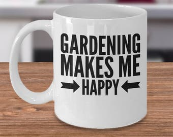 Gardening Coffee Mug   Gift Idea For Gardeners   Unique Gardening Gifts   Garden  Gift Under