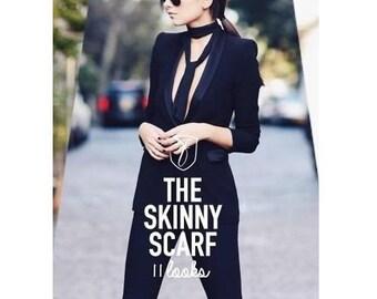 100% Silk Skinny Scarf
