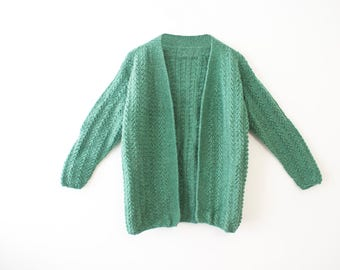 Green Knitwear Sweater/Cardigan