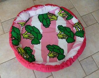 cushion dog broccoli