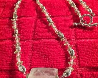 Rough Adventurite cube necklace