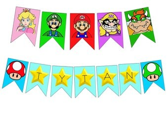 Mario Banner Printable