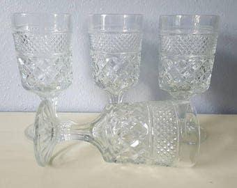 Anchor Hocking Wexford Crystal Goblets